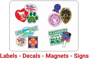 LABELS- DECALS-MAGNETS-SIGNS