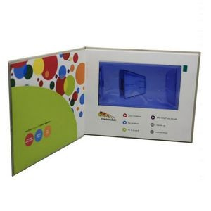 Custom 7.0 Inches Screen A5 Size Full Color Imprint Video Book Or Video Brochure