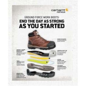 "Carhartt® Easel Back Table Talk Graphic (""End The Day As Strong As You Started"")"