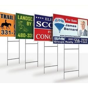 "Coroplast Single Sided Sign (18""x24"")"
