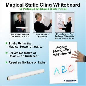 "Magical Static Cling Whiteboard - 23.5"" x 15.75"""